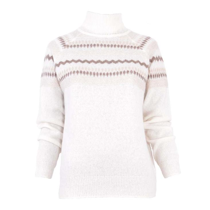 Pullover Norwegian snow white